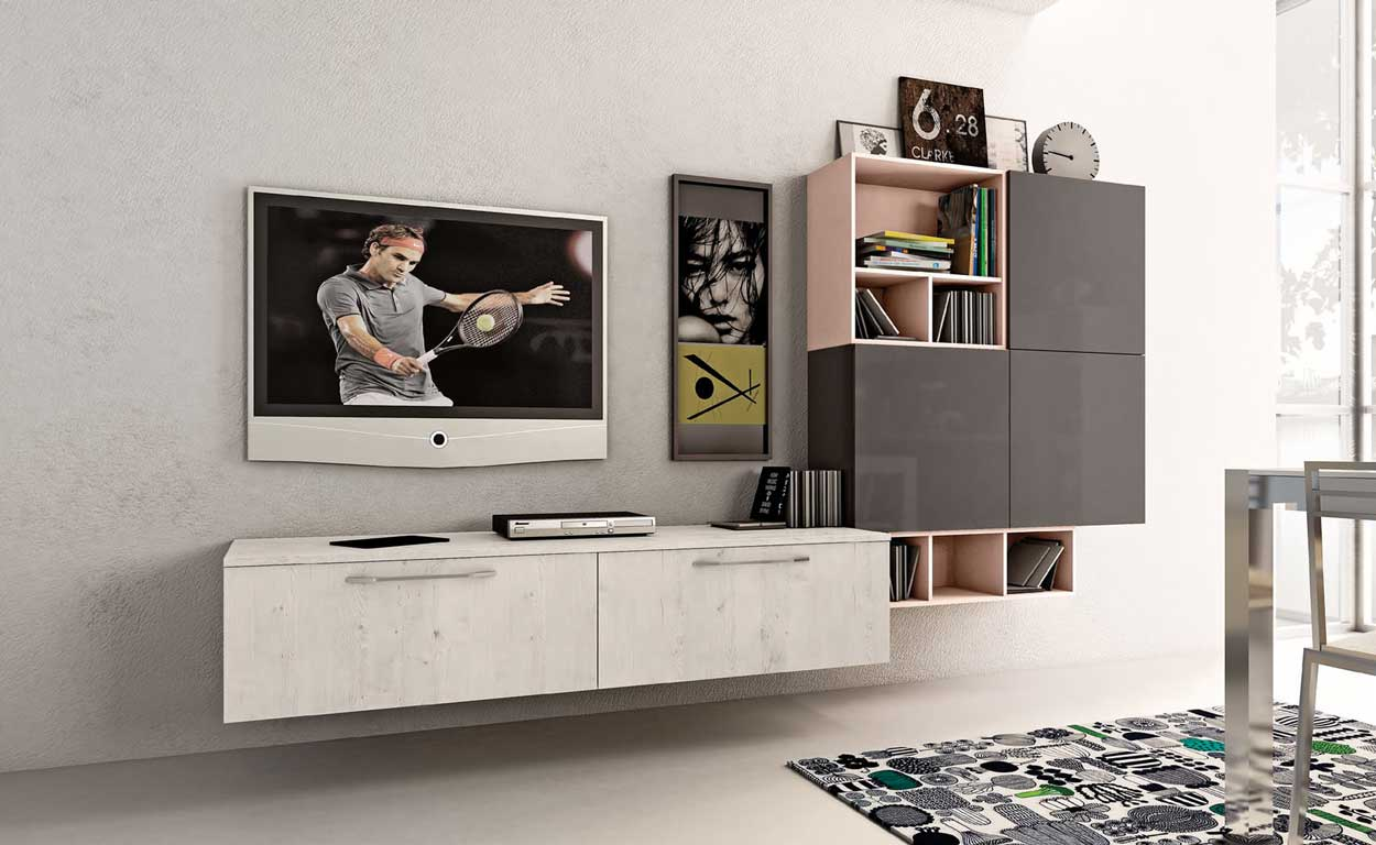 Cucine open space living moderni for Immagini living moderni