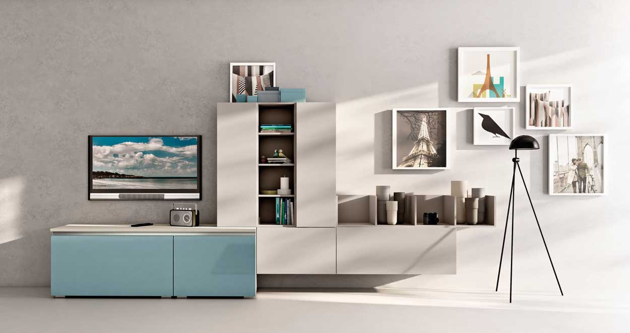 Cucine open space: living moderni